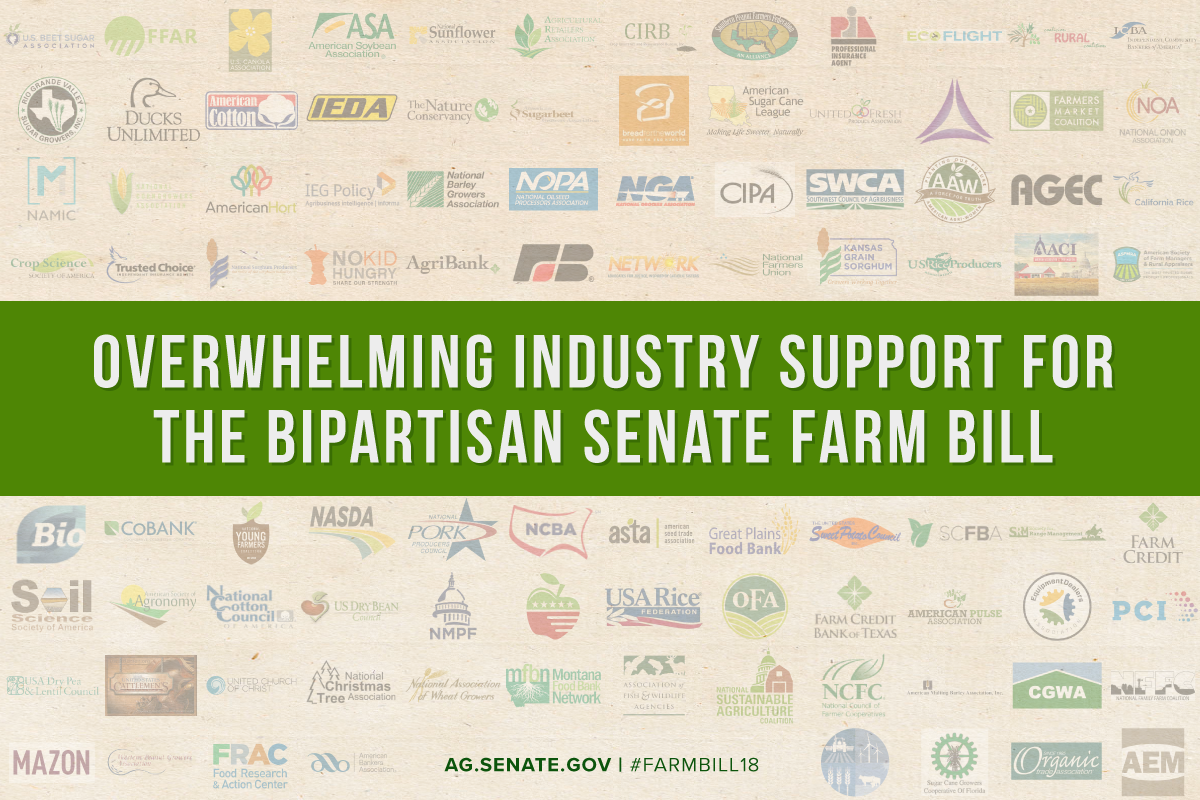 Senate Farm Bill Industry Support